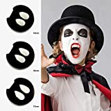 #7: AsaVea 3 Pairs Vampire Teeth Fangs, Safe & Non-Toxic False Tooth Dentures for Halloween Costume Cosplay Party Events, Fits Most Kids & Adults (3 Sizes)