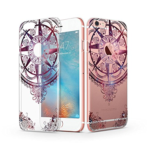 iPhone 6s Case, iPhone 6 Clear Case, MOSNOVO Henna Mandala Totem Design Pattern Ultra Thin Transparent Hard Back Case for iPhone 6 4.7 Inch