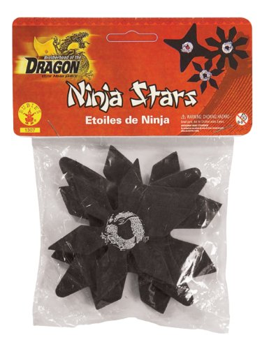 [Rubie's Brotherhood of the Dragon Rubber Ninja Stars Costume Accessory Set of - One Size] (Kid Ninja Costume Accessories)