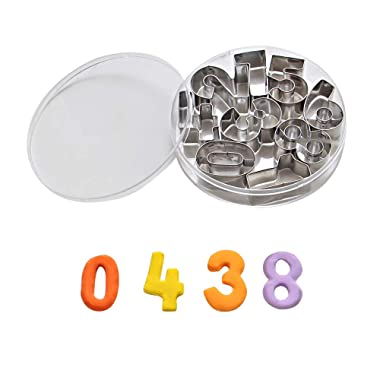 ShengHai Number Cookie Cutters –1.7  Stainless Steel Cake Decorating Number Cutters with Cut-Outs, 9-Piece Set
