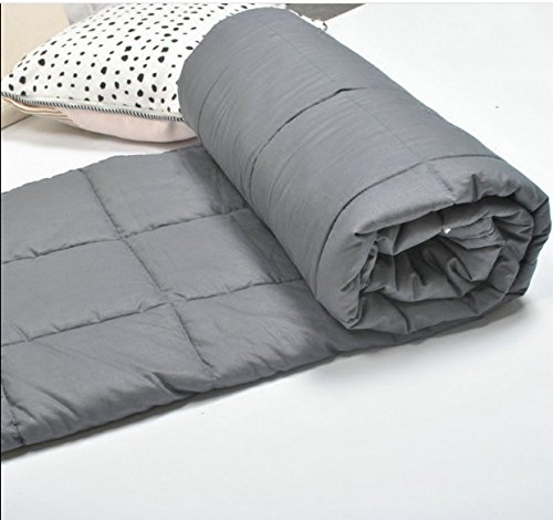Idea2go Weighted Blanket for Adults Anxiety, ADHD, Autism, OCD - Premium (60''x80'', 15lbs for 120-180 lbs Individual, Grey) Inner Weighted Blanket 60''x80''