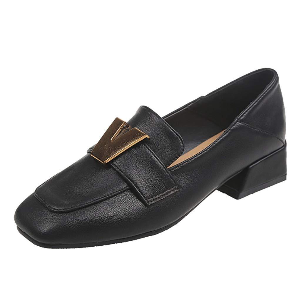 58cda1cdb24 Amazon.com: Women Pumps Shoes Low-Heeled, NDGDA Ladies Peas Single ...
