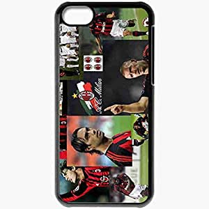 Personalized iPhone 5C Cell phone Case/Cover Skin ACMILAN Black by mcsharks