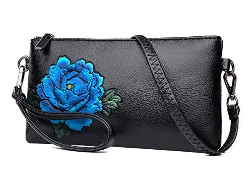 Mariage Sac Clutch Bleu Main Pochette Enveloppe Bandouliere Sac Soirée Élégant Pivoine Soirée de Femme à KELUOSI CXBwp7gqnC
