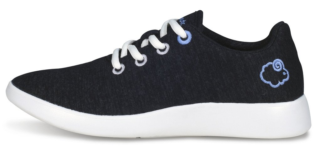 Le Mouton Unisex LM-01-BK - Merino Wool Lightweight Unisex Shoes 8W/7M M