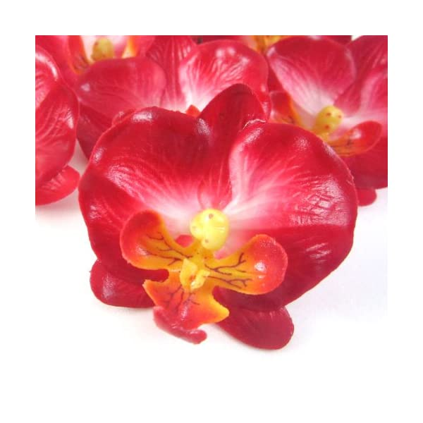 12-Small-Red-Phalaenopsis-Orchid-Silk-Flower-Heads-2-Artificial-Flowers-Heads-Fabric-Floral-Supplies-Wholesale-Lot-for-Wedding-Flowers-Accessories-Make-Bridal-Hair-Clips-Headbands-Dress