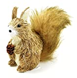 The Costume Center 5'' Brown and Tan Decorative Fox with Pine Cone Tabletop Figurine