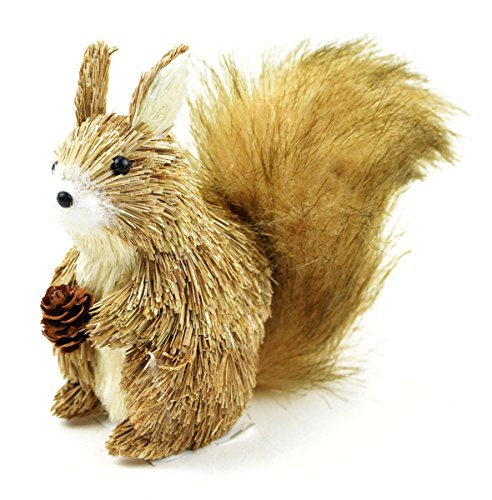 The Costume Center 5'' Brown and Tan Decorative Fox with Pine Cone Tabletop Figurine by The Costume Center