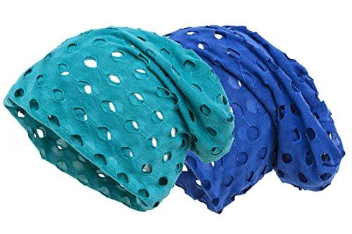 Gorro Pack y azul Estilo Shenky doble retro Tela turquesa caído perforada Fawnxf4Hq