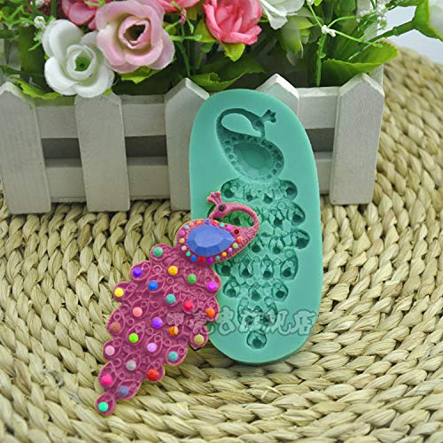 1 piece 1 pcs Jewelry Peacock shape cake mould polymer clay handmade soap ()