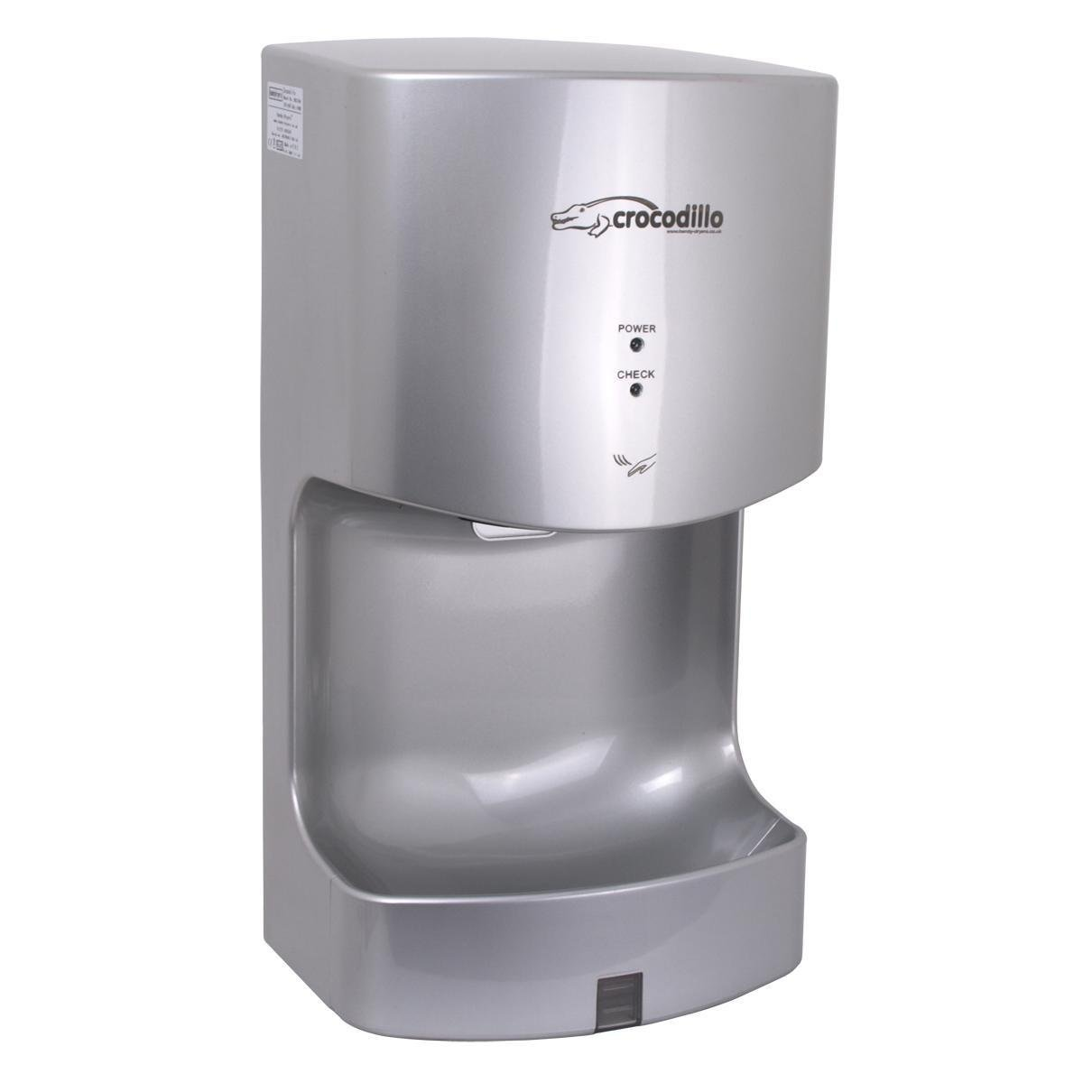 Handy Dryers Crocodillo T2 Hand Dryer, Silver Heat Outdoors 5060405130066