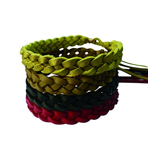 Premium Mosquito Repellent Leather Bracelet. 10 Pcs. 100% All-Natural, Plant-Based, Deet-Free, Non-Toxic Traveling Band. Safe for Kids. Keeps Bugs and Insects Away for 250 Hours