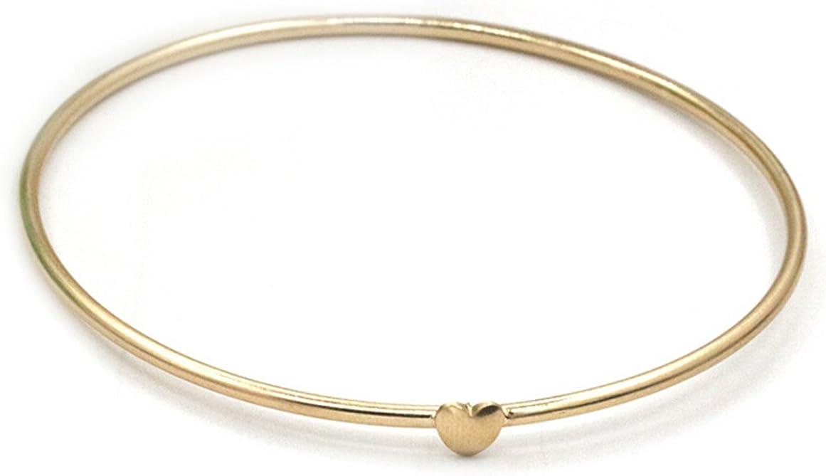 Gudeke para mujer Fashion joyería dulce Peach Corazón Que Deseen Pulsera, regalo para el día de la madre, 8.66