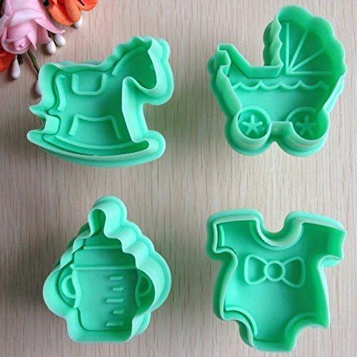 4 ピース ベビー家具形状/ ケーキ/クッキーモールド/ダイ手作業- a100