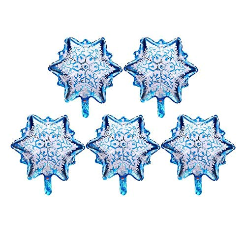 Ballons Accessories - 5pcs Christmas Snowflake Aluminum Foil Balloons Helium Inflatable Party Decor Air Weding Decoration - Accessories Ballons Balloons