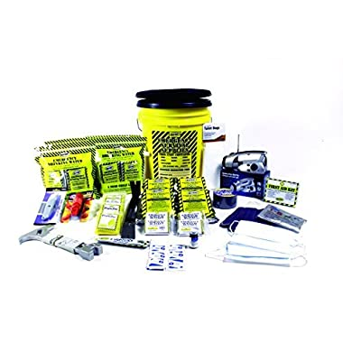Earthquake Kit 4 Person Deluxe Home Honey Bucket Survival Emergency by Mayday by Mayday
