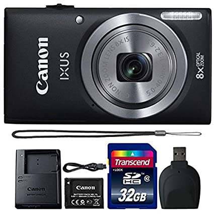 Amazon Com Canon Ixus 185 Elph 180 20mp Black Compact Digital
