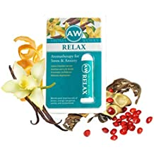 AromaWorks Aromatherapy RELAX Pocket Inhaler (Natural Tranquilizer): Essential Oils for Anxiety, All-Natural Stress and Tension Relief, Worry Free Medicine, Safe for All Ages 5+ by AromaWorks