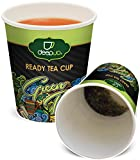 Green Tea Ready Tea Cups – 10 Disposable Paper Cups with a Single Serving of Flavorful Tea Secured at the Bottom of Each Cup – YOU'LL LOVE THE TASTE AND CONVENIENCE For Sale