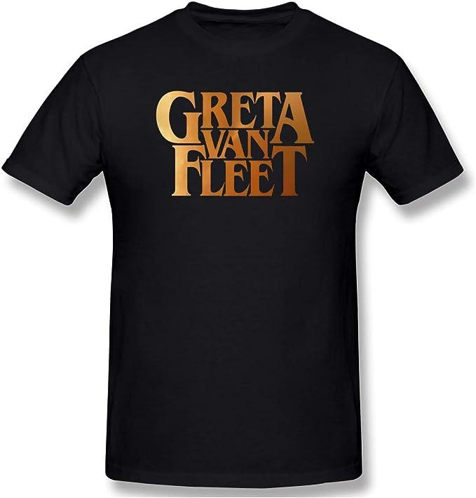 NEW Greta Van Fleet Concert Tour Poster Cool Men Black T-Shirt Short Sleeve Tee