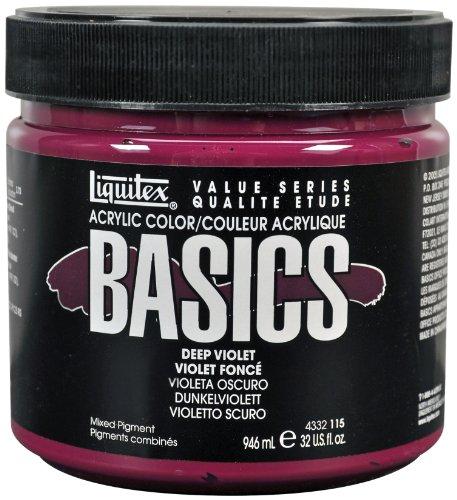 Acrylic Violet Deep - Liquitex 4332115 BASICS Acrylic Paint 32-oz jar, Deep Violet