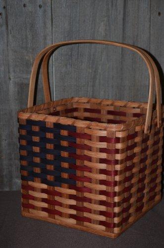 American Flag Picnic Basket. This Americana Picnic Basket Approximately Measures 10.5