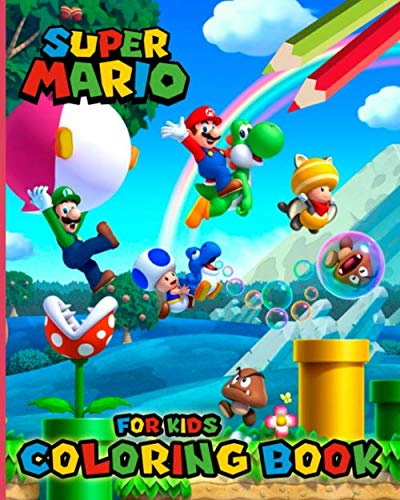 Super Mario Coloring Book for Kids: Coloring Books for Girls and Boys Ages 2-4 4-8 (30 Illustrations)]()