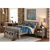 NE Kids Highlands Harper Full Slat Bed in Driftwood
