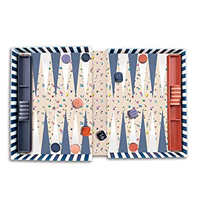 Gray Malin The Beach Backgammon Set – Full Game Set Features Awe-Inspiring Aerial Photography of a Day at The Beach – Makes a Great Gift: Galison, Malin, Gray: Toys & Games
