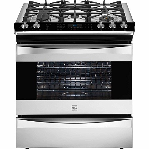 Kenmore Elite 42763 4.6 cu. ft. Self Clean Dual Fuel Slide-In Range in Stainless Steel, includes delivery and hookup