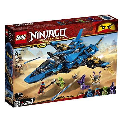 51HlA8pTNZL - LEGO NINJAGO Legacy Jay's Storm Fighter 70668 Building Kit, New 2019 (490 Pieces)