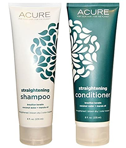 Acure Organics Coconut Hair Straightening All Natural Shampoo and Conditioner... (Organics Coconut Conditioner)