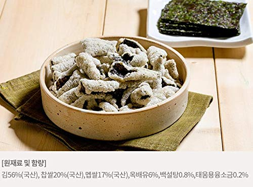 Korean Healthy Food Laver Seaweed Crisp Snack KIM BU GAK 25g x 6 티각태각 김부각 by Tigaktegak (Image #2)