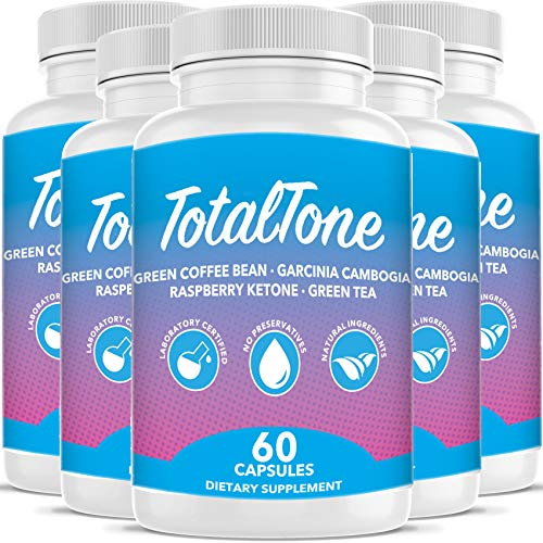 Total Tone Garcinia Pills for Advanced Weight Loss - Burn Fat Quicker - Carb Blocker (5 Month Supply)