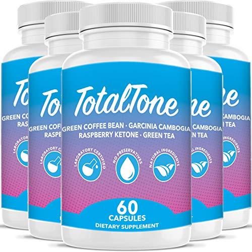 Total Tone Garcinia Pills forAdvanced Weight Loss -Burn Fat Quicker - Carb Blocker (5 Month Supply)