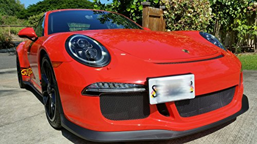 GMG Motorsports NO Holes License Plate Bracket Kit for Porsche 911 7th Gen (991), Cayman, Boxster & 718 (981/982) (Does NOT fit Older Models and Vehicles with sensors)