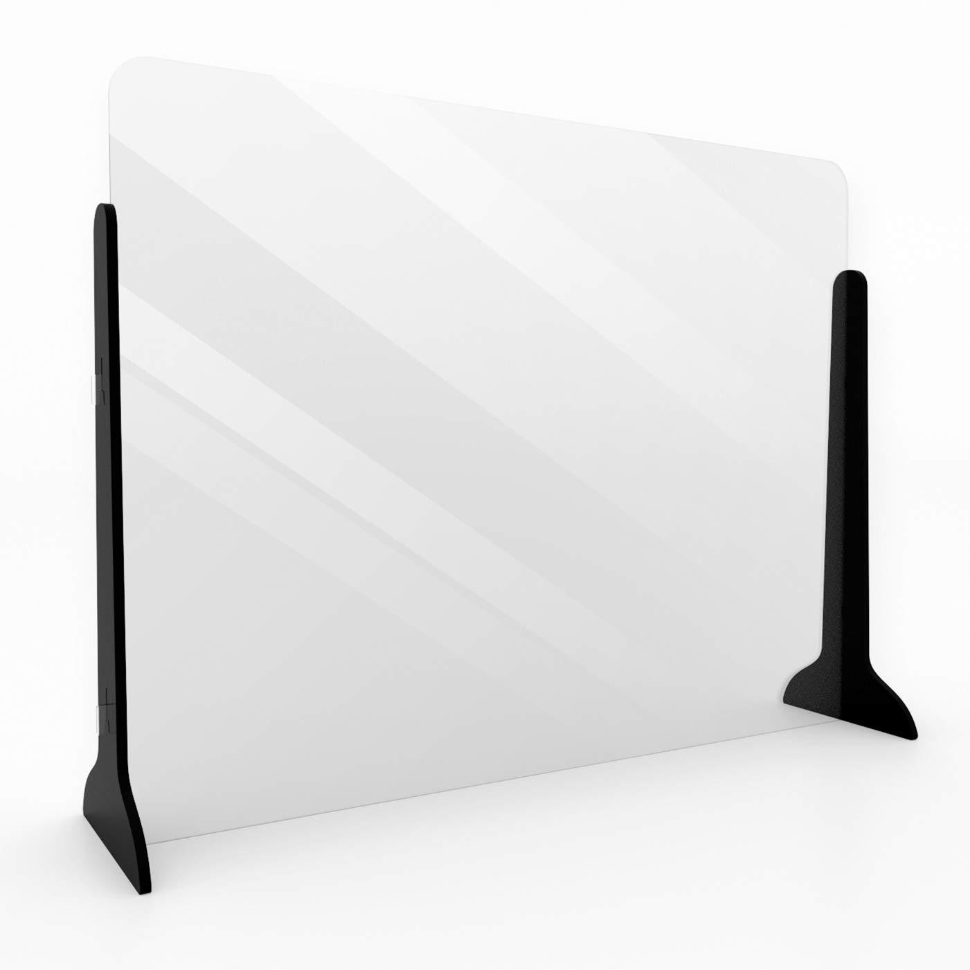 LYQCZ Trennwand /& Hustenschutz 400x400mm Schutzscheibe Thekenaufsatz Transparente Platten Hustenschutz Plexiglas Schutzwand Schutzscheibe Mit Durchreiche Spuckschutz Acrylglas