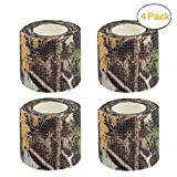 Camo Gun Wrap Tape Rifle Shotgun Camouflage Form Wrap Military Army Hunting Self-Adhesive Protective Multi-Functional Bandage for Firearms,Rifles,Flashlights,Scope,Knife,Bicycle (Realtree Camo)