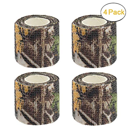 - Camo Gun Wrap Tape Rifle Shotgun Camouflage Form Wrap Military Army Hunting Self-Adhesive Protective Multi-Functional Bandage for Firearms,Rifles,Flashlights,Scope,Knife,Bicycle (Realtree Camo)