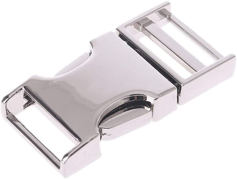 VIccoo Hebilla de liberaci/ón Lateral arqueada de Metal para Correas de Mochila Correas 14 mm 19 mm 25 mm 32 mm Negro3