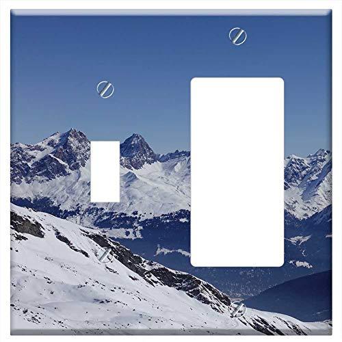 1-Toggle 1-Rocker/GFCI Combination Wall Plate Cover - Ski Area Pizol Savognin Piz ()