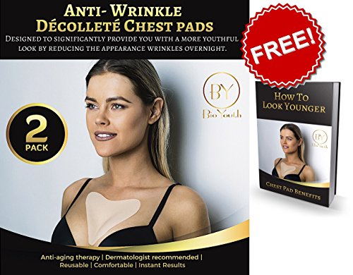 Decollette Pad For Chest Wrinkles Anti Wrinkle Chest Pads Chest Pads –2 COUNT and FREE EBOOK- Silicone Wrinkle Pads Reusable for Chest Wrinkles, Chest Wrinkle Prevention, Medical Silicone Patch (Wrinkle Prevention)