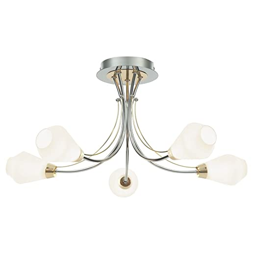 Pagazzi conrad 5 light semi flush ceiling light