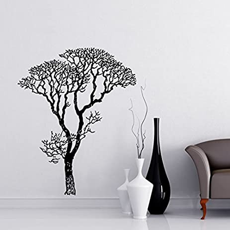 bare tree branches wall decal sticker by black 6ft tall 72in tall