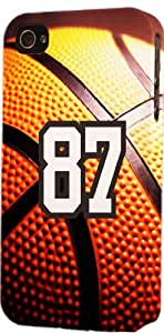 Baseball Sports Fan Player Number 87 Plastic Snap On Decorative iPhone 4s Case