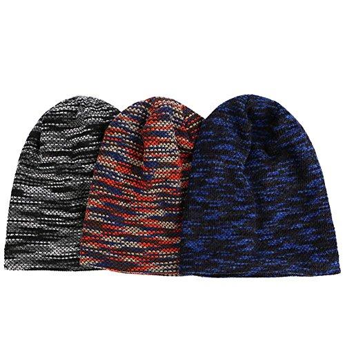 hecho knit Sombrero hip punto holgado hop Elasticidad beanies 3 slouchy caliente alineada blue Gorras de gusto Khaki con Moda paquete qzwzdngrx