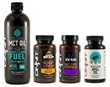 Onnit Brain Booster Pack | Alpha Brain 30ct, New Mood 30ct, Krill Oil & MCT Oil (24oz)