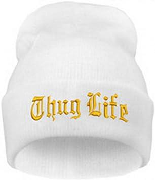 JJHR Sombreros y gorras Sombrero Negro con Letras para Hombre Thug ...