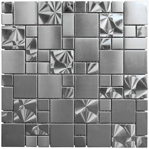 Stainless Steel Metal French Pattern Mosaic Tile for Kitchen Backsplash Wall (3