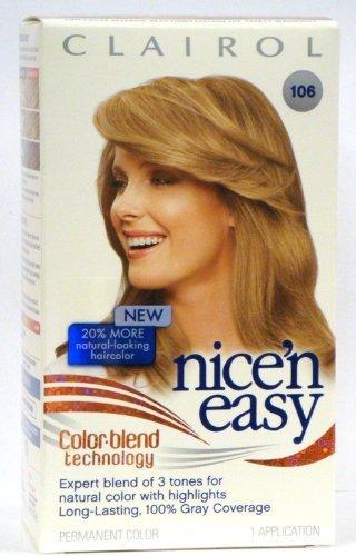 clairol nice n easy hair colour 106 medium ash blonde gives shade Car
